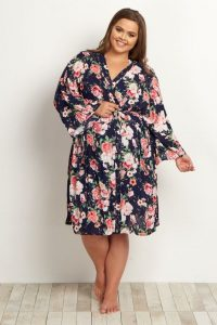 Plus Size Nursing Gown And Robe