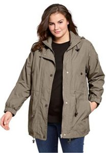 Plus Size Rain Jacket With Hood