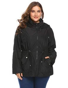 Plus Size Raincoat With Hood