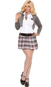 Plus Sized Schoolgirl Skirt Outfit
