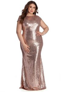 Plus Size Sequin Bridesmaid Dress