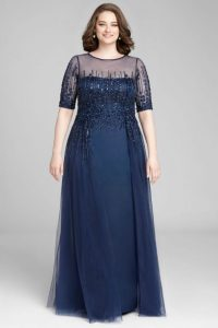 Plus Size Sequin Bridesmaid Gown