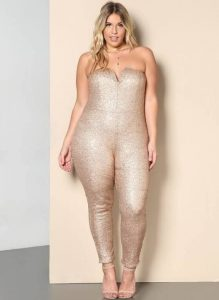 Plus Size Sequin Jumpsuits