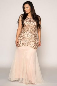 Plus Size Sequin Mermaid Dress