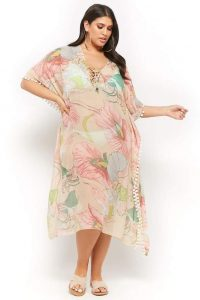 Plus Size Swim Cover Up Long