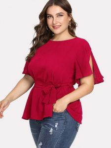 Plus Size Tops Short Sleeve