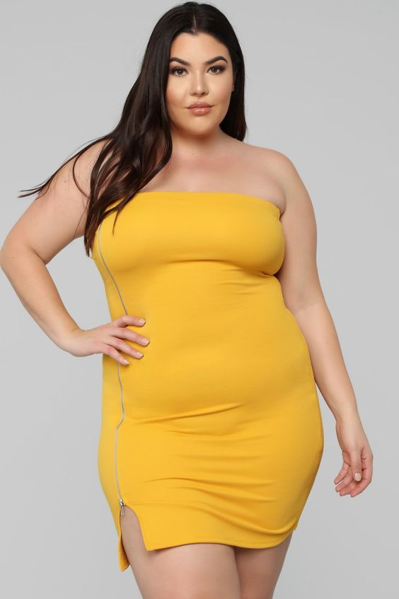 Plus Size Tube Top Dress Attire Plus Size