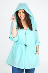 Plus Size Womens Rain Jacket With Hood