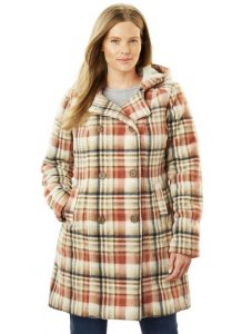 Plus Size Wool Pea Coats With Hoods