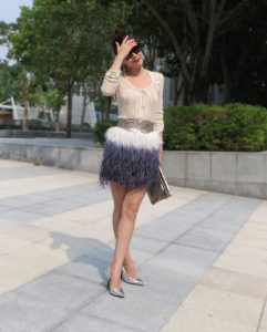 Plus Sized Feather Skirt