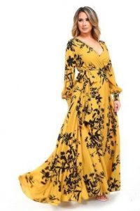 Plus Sized Floral Long Dresses