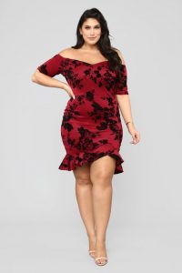 Plus Sized Floral Prom Dresses