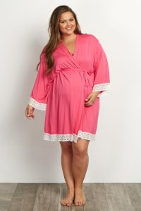 Plus Sized Nursing Gown