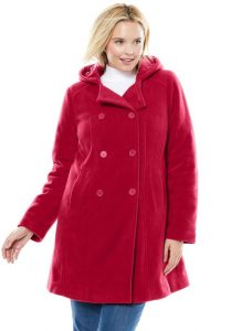 Plus Sized Pea Coats With Hoods