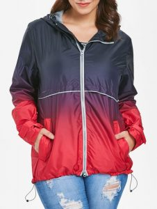 Plus Sized Rain Jacket With Hood