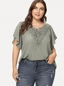 Plus Sized Tops Short Sleeve