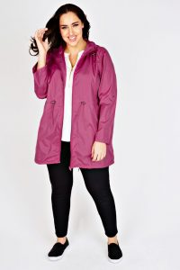 Rain Jacket With Hood Plus Size