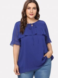 Short Sleeve Plus Size Tops