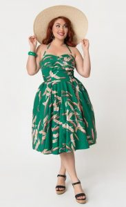 Swing Hawaiian Print Dress Plus Size