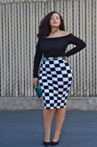 White Pencil Skirt Knee Length