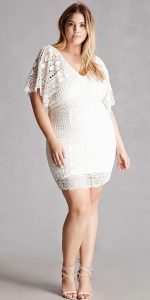 White Plus Size Crochet Dresses