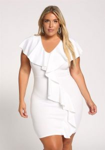 White Plus Size Night Out Dresses
