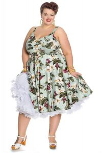 Women's Hawaiian Print Dresses Plus Size