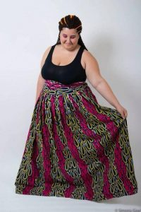Women's Plus Size African Print Maxi Skirt