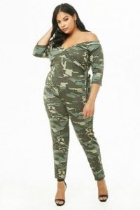 Women's Plus Size Camouflage Jumpsuit