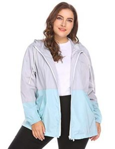 Women's Plus Size Rain Jacket With Hood