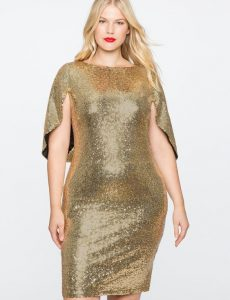 Women's Plus Size Sequin Bridesmaid Dress