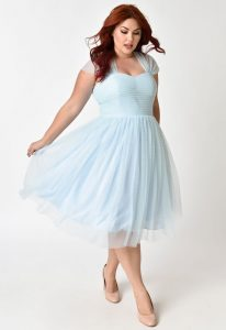 Baby Blue Plus Size Dress