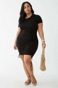 Black Plus Size Cotton T shirt Dress