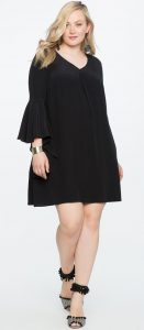 Black Shift Dress With Sleeves