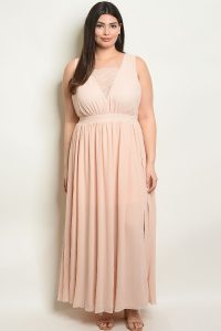 Blush Plus Size Maxi Dress