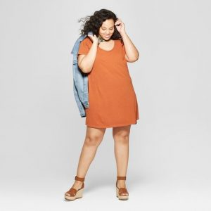 Cotton Plus Size T-shirt Dress