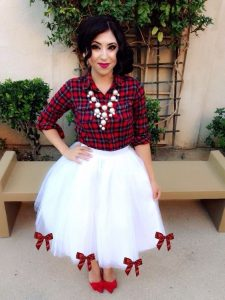 Flare Tulle Skirts Plus Size