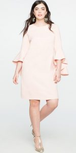 Flounce Sleeved Shift Dresses