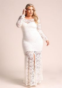 Full Sleeve White Lace Maxi Dress