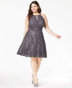 Gray Formal Dresses Plus Size