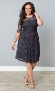 Gray Semi Formal Dresses Plus Size