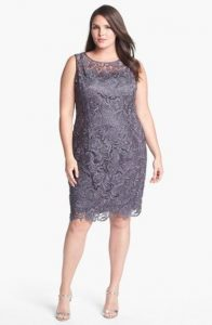Gray Short Dresses Plus Size