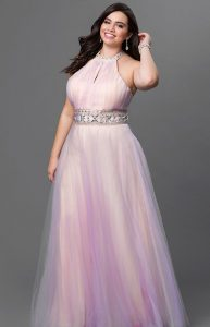 Halter Plus Size Formal Gowns