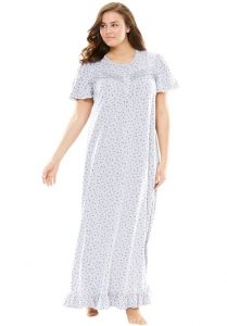 Lace Edge Cotton Night Dresses In XL