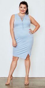 Light Blue Plus Size Dress
