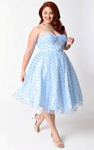 Light Blue Plus Size Dresses