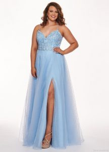 Light Blue Plus Size Gown