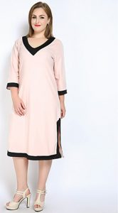 Long Plus Size Cotton T shirt Dress