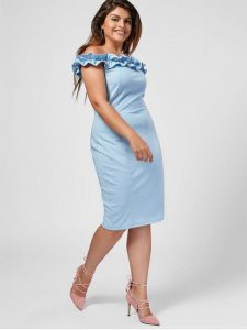 Party Dress In Light Blue