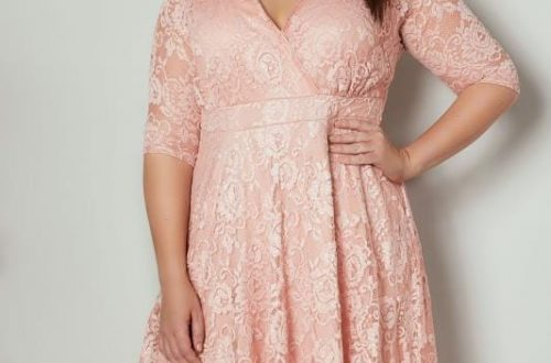 Pink Floral Wrap Dress Plus Size